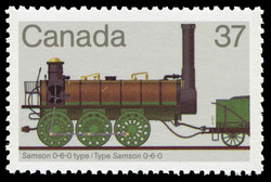 Samson 0-6-0 Type Canada Postage Stamp | Canadian Locomotives, 1836-1860