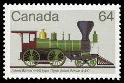 Adam Brown 4-4-0 Type Canada Postage Stamp | Canadian Locomotives, 1836-1860