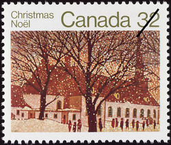 City Church Canada Postage Stamp | Christmas
