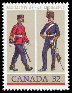 The Royal Canadian Regiment, The British Columbia Regiment Canada Postage Stamp | Canadian Forces, Regiments, 1883-1983