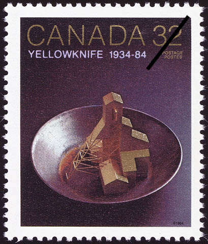 Yellowknife, 1934-84 Canada Postage Stamp