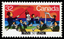 Montreal Symphony Orchestra, 50th Anniversary Canada Postage Stamp