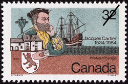 Jacques Cartier, 1534-1984 Canada Postage Stamp