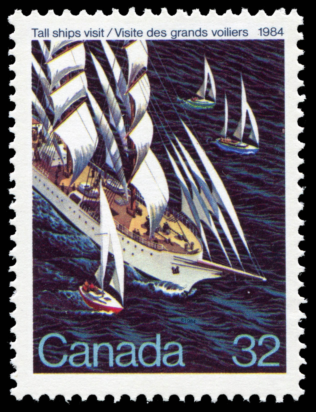 Tall Ships Visit, 1984 Canada Postage Stamp