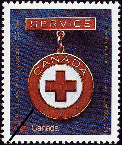 The Canadian Red Cross Society, 1909-1984 Canada Postage Stamp