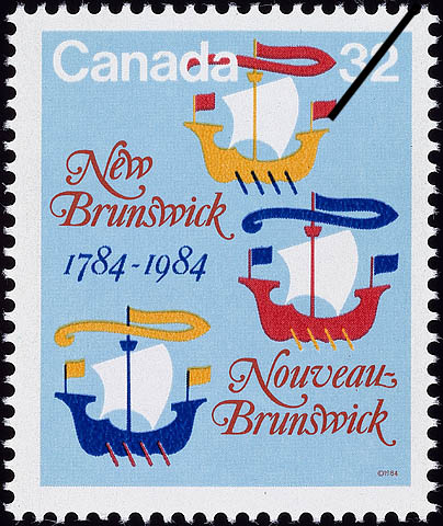 New Brunswick, 1784-1984 Canada Postage Stamp