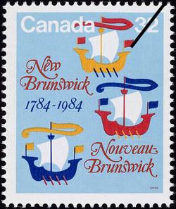New Brunswick, 1784-1984 Canada Postage Stamp