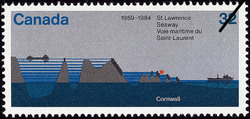 St. Lawrence Seaway, 1959-1984 Canada Postage Stamp