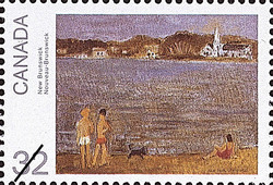 New Brunswick Canada Postage Stamp | Canada Day, Paintings by Jean Paul Lemieux