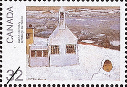Yukon Territory Canada Postage Stamp | Canada Day, Paintings by Jean Paul Lemieux