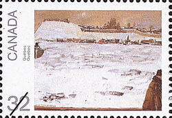 Quebec Canada Postage Stamp | Canada Day, Paintings by Jean Paul Lemieux