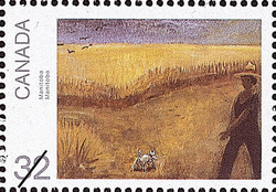 Manitoba Canada Postage Stamp | Canada Day, Paintings by Jean Paul Lemieux