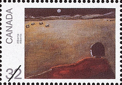 Alberta Canada Postage Stamp   Canada Day, Paintings by Jean Paul Lemieux