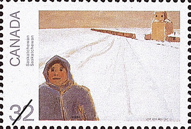 Saskatchewan Canada Postage Stamp | Canada Day, Paintings by Jean Paul Lemieux
