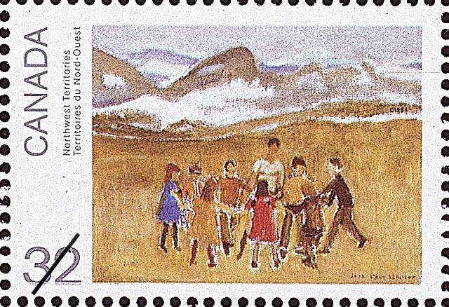 Northwest Territories Canada Postage Stamp | Canada Day, Paintings by Jean Paul Lemieux