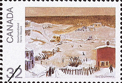 Newfoundland Canada Postage Stamp | Canada Day, Paintings by Jean Paul Lemieux
