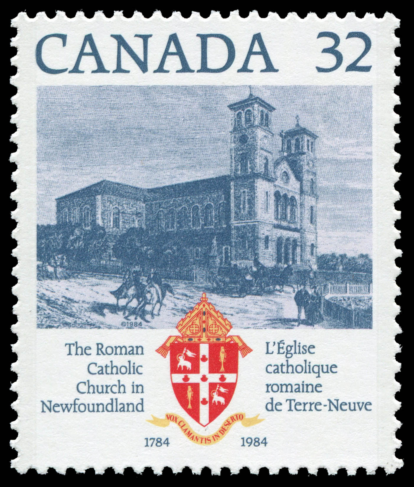 The Roman Catholic Church in Newfoundland, 1784-1984 Canada Postage Stamp