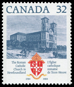 The Roman Catholic Church in Newfoundland, 1784-1984 Canada Postage Stamp