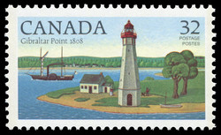 Gibraltar Point, 1808 Canada Postage Stamp | Lighthouses of Canada