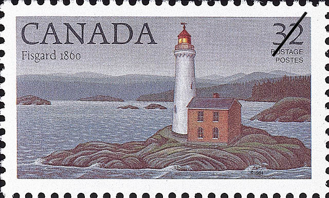 Fisgard, 1860 Canada Postage Stamp | Lighthouses of Canada
