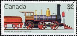 Scotia 0-6-0 Type Canada Postage Stamp | Canadian Locomotives, 1860-1905