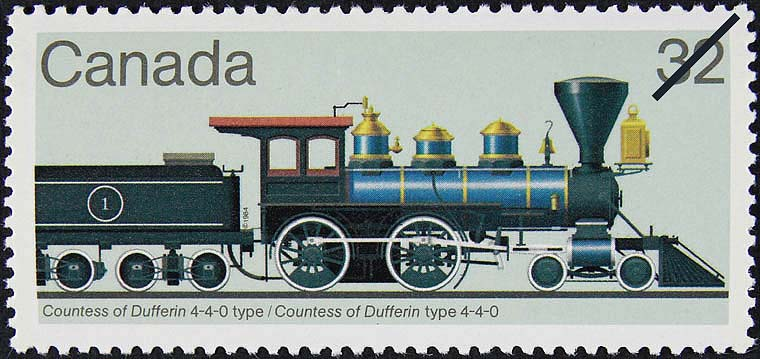 Countess of Dufferin 4-4-0 Type Canada Postage Stamp | Canadian Locomotives, 1860-1905