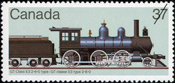 GT Class E3 2-6-0 Type Canada Postage Stamp | Canadian Locomotives, 1860-1905