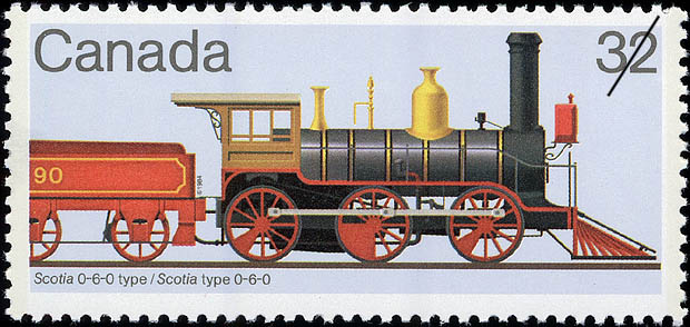 Scotia 0-6-0 Type Canada Postage Stamp