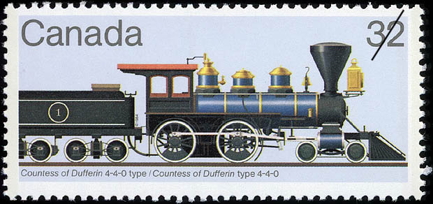 Countess of Dufferin 4-4-0 Type Canada Postage Stamp