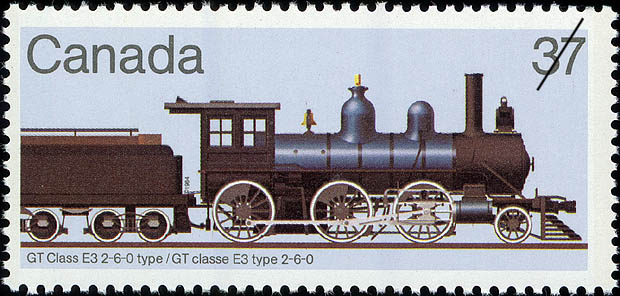 GT Class E3 2-6-0 Type Canada Postage Stamp