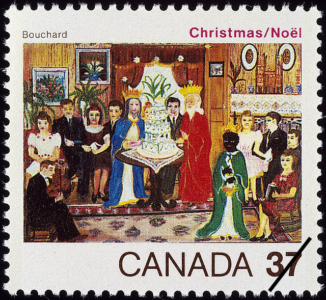 The Three Kings, Bouchard Canada Postage Stamp