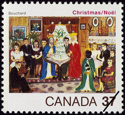 The Three Kings, Bouchard Canada Postage Stamp   Christmas
