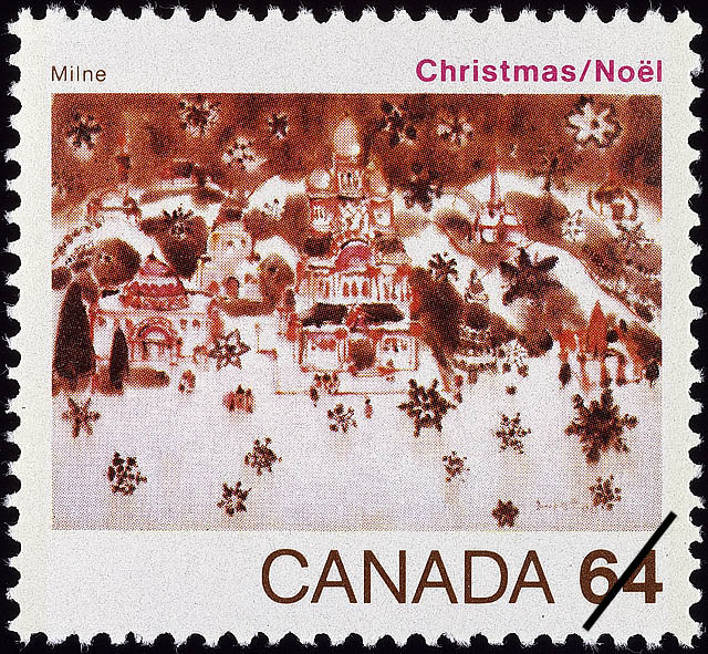 Snow in Bethlehem, Milne Canada Postage Stamp | Christmas
