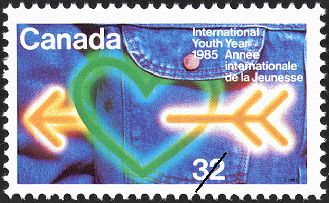 International Youth Year, 1985 Canada Postage Stamp