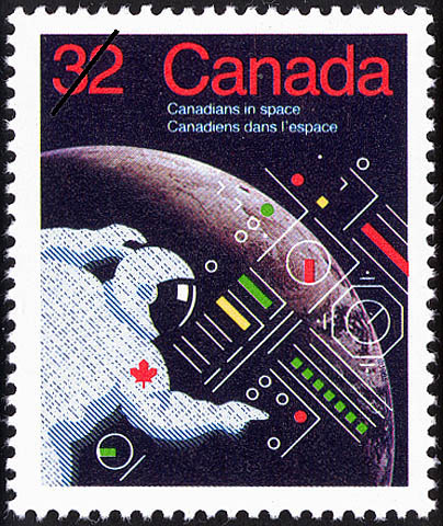 Canadians in Space Canada Postage Stamp