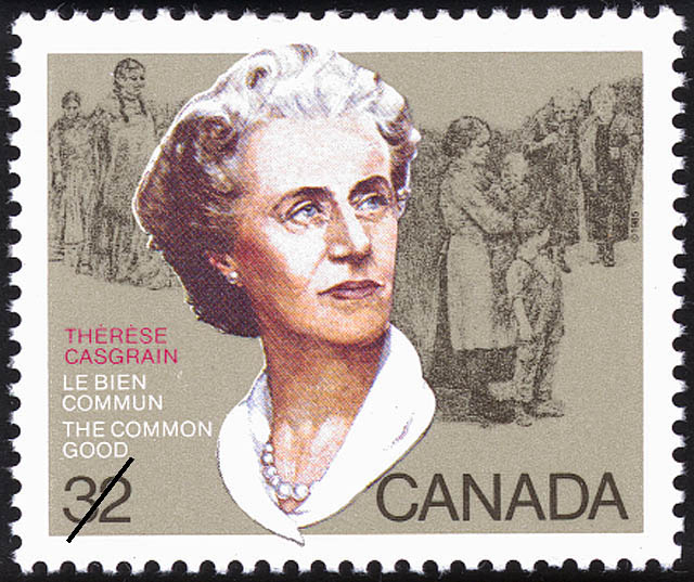 Therese Casgrain, The Common Good Canada Postage Stamp | Decade for Women