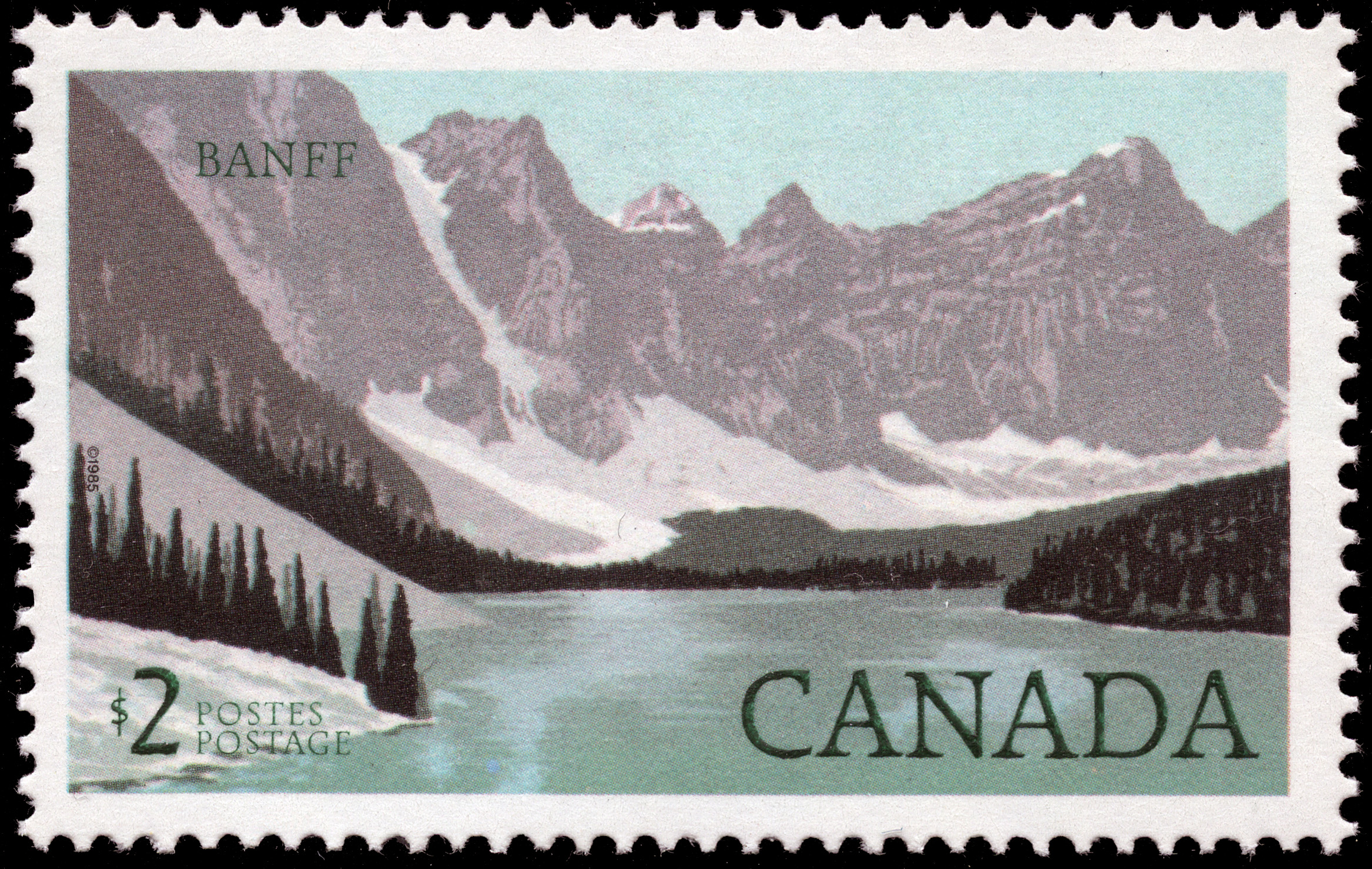 Banff Canada Postage Stamp