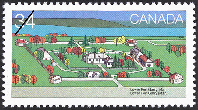 Lower Fort Garry, Man. Canada Postage Stamp