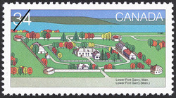 Lower Fort Garry, Man. Canada Postage Stamp | Canada Day, Forts across Canada