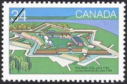 Fort Anne, N.S., circa 1763 Canada Postage Stamp | Canada Day, Forts across Canada