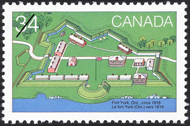 Fort York, Ont, circa 1816 Canada Postage Stamp | Canada Day, Forts across Canada