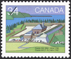 Castle Hill, Nfld., circa 1762 Canada Postage Stamp | Canada Day, Forts across Canada