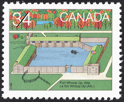 Fort Whoop Up, Alta. Canada Postage Stamp | Canada Day, Forts across Canada
