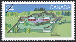 Fort Erie, Ont. Canada Postage Stamp | Canada Day, Forts across Canada