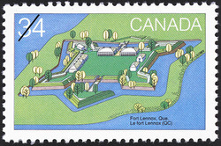 Fort Lennox, Que. Canada Postage Stamp | Canada Day, Forts across Canada