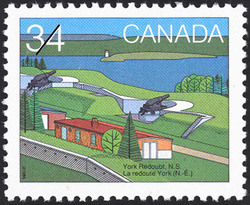 York Redoubt, N.S. Canada Postage Stamp | Canada Day, Forts across Canada