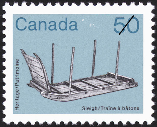 Sleigh Canada Postage Stamp | Heritage Artifacts