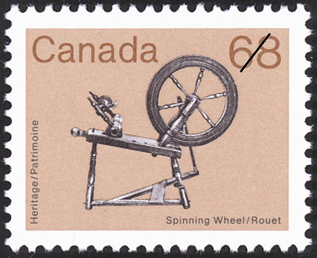 Spinning Wheel Canada Postage Stamp