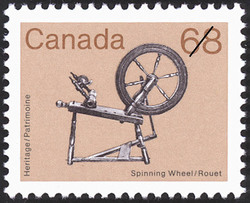 Spinning Wheel Canada Postage Stamp | Heritage Artifacts
