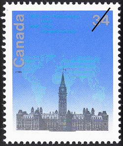 Inter-Parliamentary Union, 1985 Canada Postage Stamp